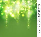 green christmas background | Shutterstock .eps vector #763329694