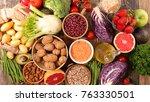 assorted diet food | Shutterstock . vector #763330501