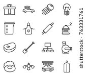 thin line icon set   hi quality ... | Shutterstock .eps vector #763331761