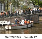 amsterdam   apr 30  city... | Shutterstock . vector #76333219