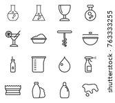 thin line icon set   round...   Shutterstock .eps vector #763333255