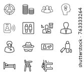 thin line icon set   target... | Shutterstock .eps vector #763333264