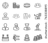 thin line icon set   target... | Shutterstock .eps vector #763338895