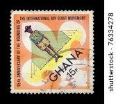 ghana   circa 1972. vintage... | Shutterstock . vector #76334278