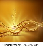 gold brown abstract background... | Shutterstock . vector #763342984
