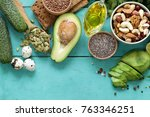 healthy and nutrition food  ... | Shutterstock . vector #763346251