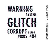 glitch text background   Shutterstock .eps vector #763354921