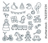 baby toys cute vector... | Shutterstock .eps vector #763359154