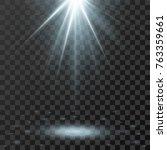vector spotlight. light effect... | Shutterstock .eps vector #763359661