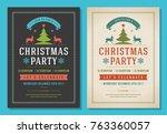 christmas party invitation... | Shutterstock .eps vector #763360057