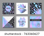 abstract creative cards posters ... | Shutterstock .eps vector #763360627