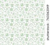 money seamless pattern  line... | Shutterstock .eps vector #763362049