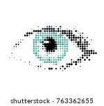 the human eye  a drawing in a... | Shutterstock .eps vector #763362655