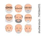 old men male human face head... | Shutterstock .eps vector #763366351