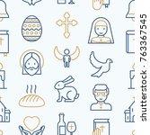 christianity seamless pattern...   Shutterstock .eps vector #763367545