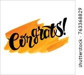 hand drawn lettering   ... | Shutterstock .eps vector #763368829