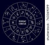 zodiac circle .zodiac... | Shutterstock .eps vector #763369099