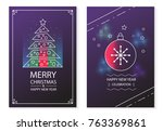merry christmas and happy new... | Shutterstock .eps vector #763369861