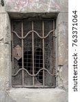 vintage old rusty broken iron... | Shutterstock . vector #763371064