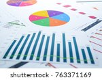 charts and graphs paper.... | Shutterstock . vector #763371169