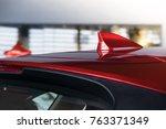 antenna shark fin white color... | Shutterstock . vector #763371349