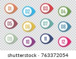 number bullet point colorful 3d ... | Shutterstock .eps vector #763372054