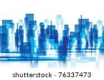 city landscape | Shutterstock .eps vector #76337473