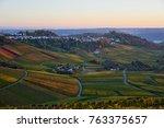 lush vineyards in southen... | Shutterstock . vector #763375657