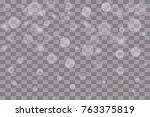 shining bokeh isolated on... | Shutterstock .eps vector #763375819