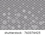 vector falling snow effect... | Shutterstock .eps vector #763376425