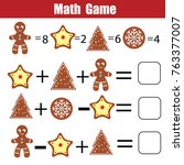 mathematics educational game... | Shutterstock .eps vector #763377007