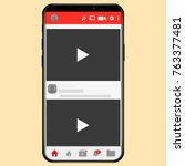 youtube video channel online... | Shutterstock .eps vector #763377481
