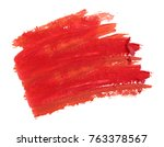 red lipstick stroke isolated | Shutterstock . vector #763378567