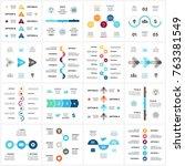 vector arrows semicircles... | Shutterstock .eps vector #763381549