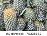 Pile Of Pineapple At Market