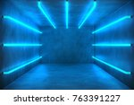 3d illustration abstract blue... | Shutterstock . vector #763391227