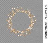 round frame from rhinestones ... | Shutterstock .eps vector #763396171