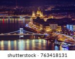 parliament in budapest hungary  ... | Shutterstock . vector #763418131