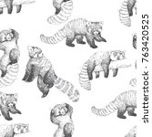vector seamless pattern with... | Shutterstock .eps vector #763420525