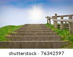 Stairway And Sunlight