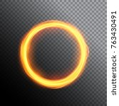 magic gold circle light. round... | Shutterstock .eps vector #763430491