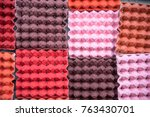 colorful egg trays tile in... | Shutterstock . vector #763430701