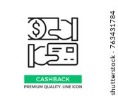 vector cashback icon. cash back.... | Shutterstock .eps vector #763431784