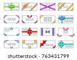 lineart greeting card letter... | Shutterstock .eps vector #763431799