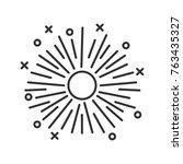 firework linear icon.... | Shutterstock . vector #763435327