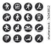 prohibited signs vector. bitmap ... | Shutterstock . vector #76343812