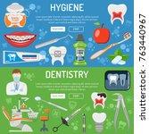 dental services dentistry...   Shutterstock .eps vector #763440967