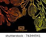 floral background  eps8   Shutterstock .eps vector #76344541