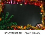 christmas and new year... | Shutterstock . vector #763448107