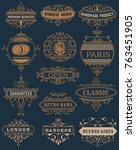 classic banners set | Shutterstock .eps vector #763451905
